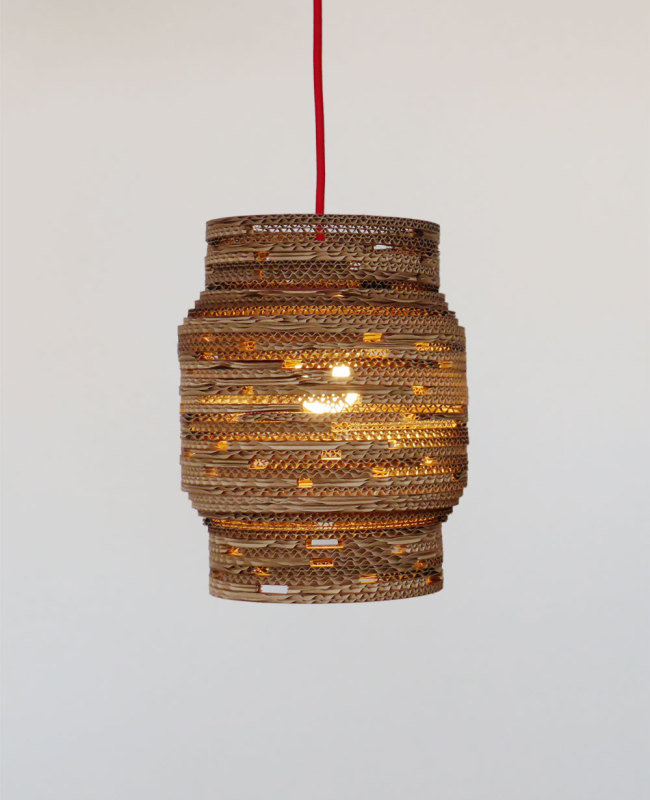 design kartonnen hanglamp reika 5