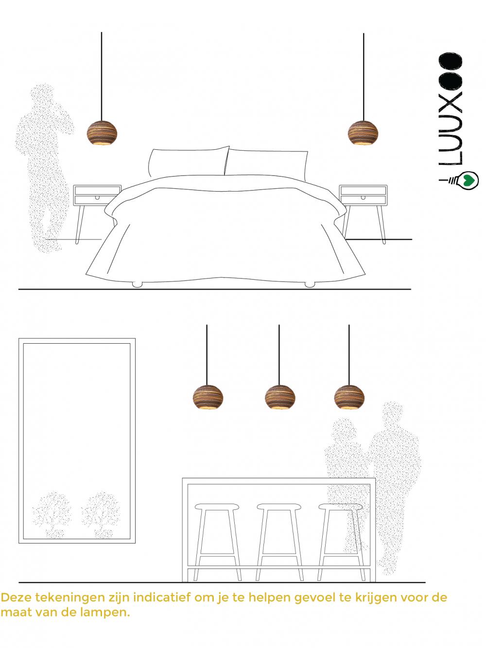 Kartonnen eettafel lamp CantaLight Luuxoo