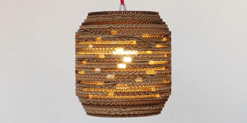 design hanglamp van karton