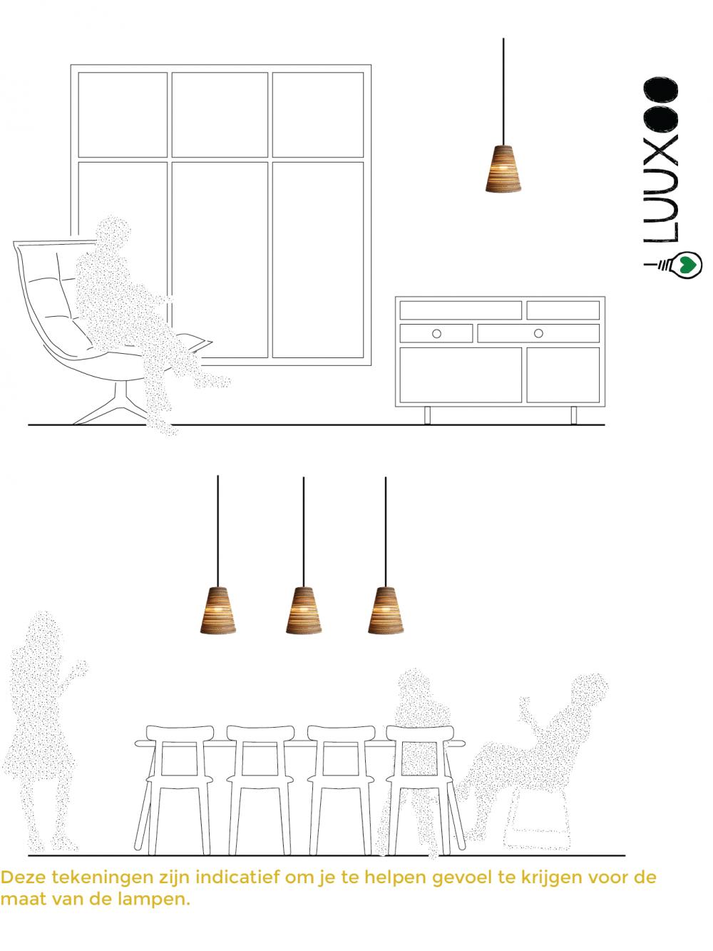 hanglamp van karton koko light24 luuxoo