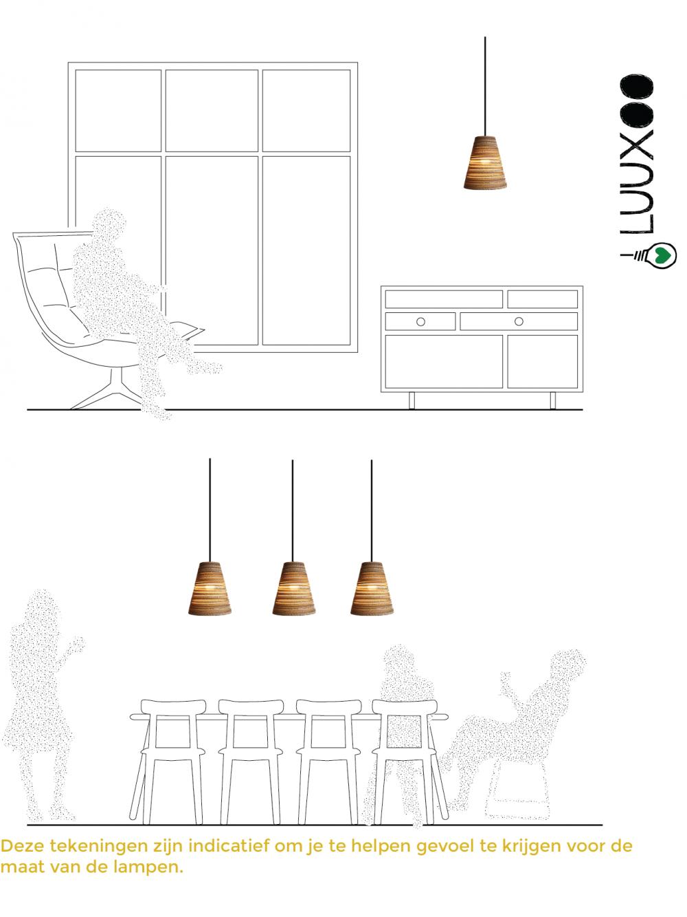 Hanglamp van karton KokoLight30 Luuxoo