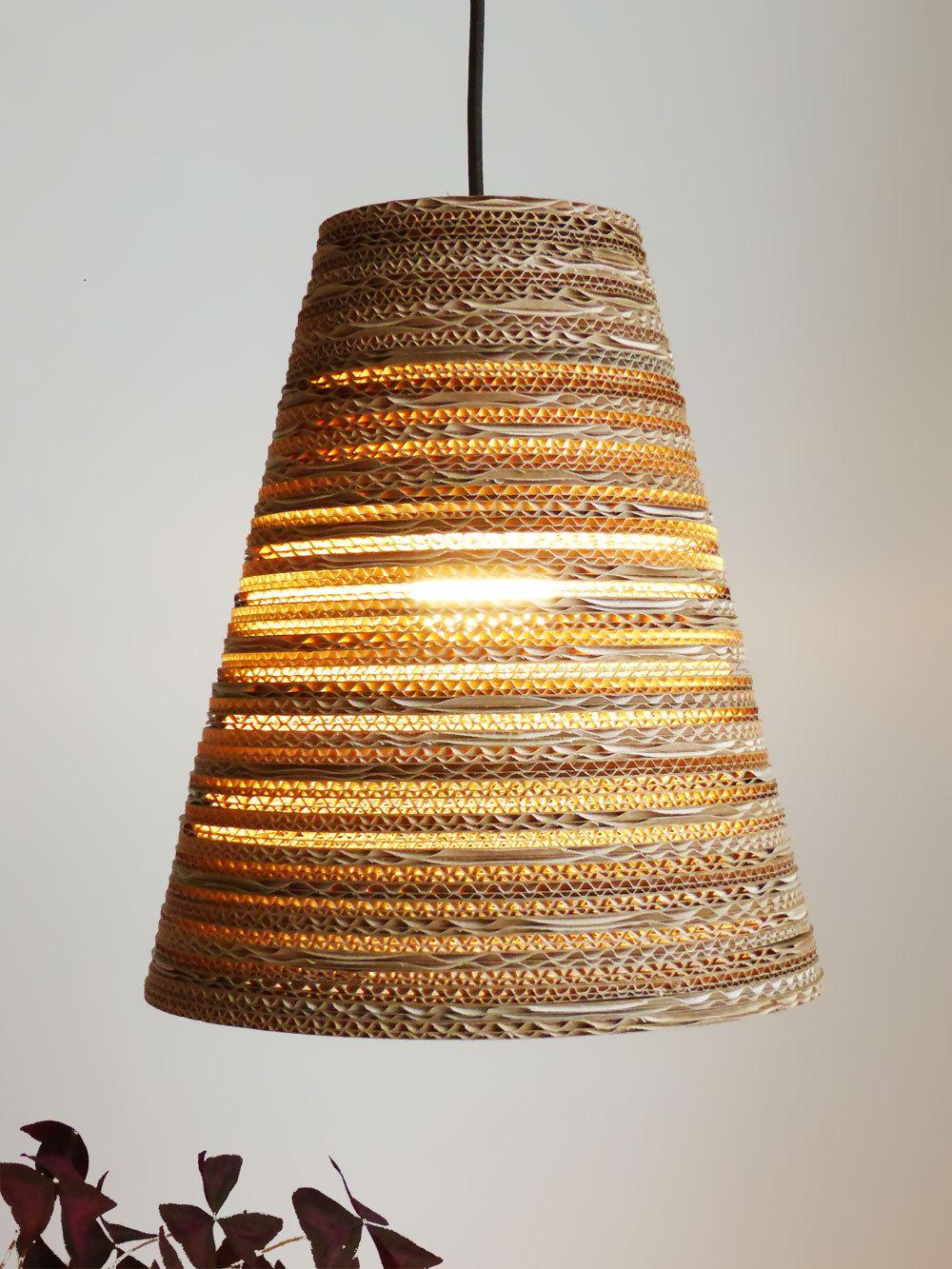 Hanglamp van karton koko light Luuxoo