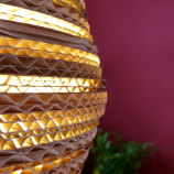 Eettafel lamp van karton pera light Luuxoo