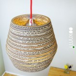 kartonnen upcycle lamp top