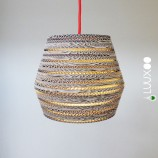 kartonnen upcycle lamp voor